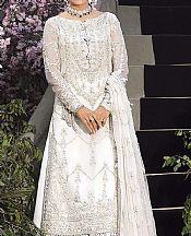 Off-white Crinkle Chiffon Suit- Pakistani Chiffon Dress