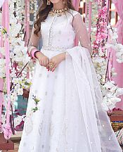 White Organza Suit- Pakistani Chiffon Dress
