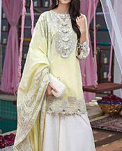 Lime Yellow Cotton Net Suit- Pakistani Designer Lawn Dress