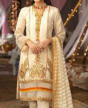 Ivory Organza Suit- Pakistani Designer Chiffon Suit