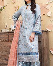 Baby Blue Raw Silk Suit- Pakistani Chiffon Dress