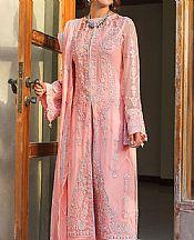 Peach Crinkle Chiffon Suit- Pakistani Designer Chiffon Suit