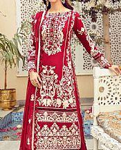 Crimson Jacquard Lawn Suit- Pakistani Designer Lawn Dress