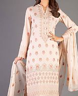 Ivory Karandi Suit- Pakistani Winter Dress