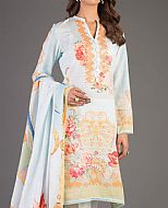 Sky Blue Karandi Suit- Pakistani Winter Dress