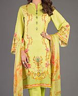 Parrot Green Karandi Suit- Pakistani Winter Dress