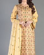 Yellow Karandi Suit- Pakistani Winter Dress