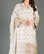 Off-white Karandi Suit- Pakistani Winter Dress