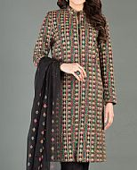 Black Karandi Suit- Pakistani Winter Clothing