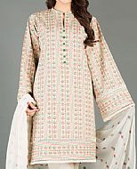 Ivory Karandi Suit- Pakistani Winter Clothing