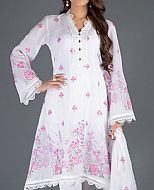 White/Pink Lawn Suit- Pakistani Designer Lawn Dress