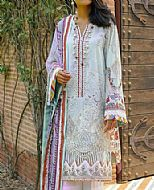 Light Turquoise Lawn Suit- Pakistani Designer Lawn Dress