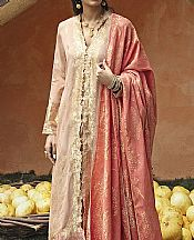 Ivory Jacquard Suit- Pakistani Designer Lawn Dress