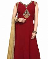 Red Georgette Suit- Indian Semi Party Dress