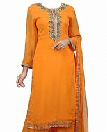 Orange Chiffon Suit- Indian Dress