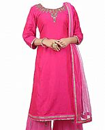 Hot Pink Chiffon Suit- Indian Dress