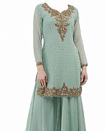 Light Grey Chiffon Suit- Indian Dress