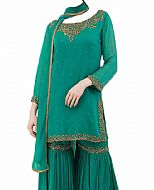 Teal Chiffon Suit- Indian Dress