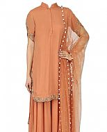 Brown Chiffon Suit