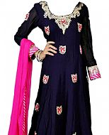 Navy Blue Silk Suit- Indian Clothes