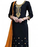 Navy Blue Georgette Suit