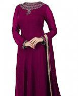 Plum Chiffon Suit- Indian Dress