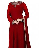 Red Chiffon Suit- Indian Clothes