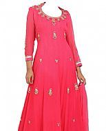 Hot Pink Chiffon Suit