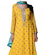 Yellow Chiffon Suit- Indian Clothes