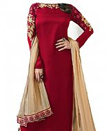 Maroon Silk Suit- Indian Dress