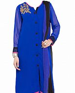 Royal Blue Chiffon Suit
