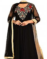 Black Chiffon Suit- Indian Semi Party Dress