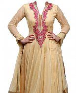 Cream Net Suit- Indian Semi Party Dress