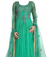 Sea Green Net Suit- Indian Semi Party Dress