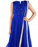 Royal Blue Chiffon Suit- Indian Dress