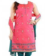Pink/Teal Georgette Suit