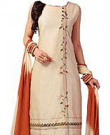 Ivory/Brown Georgette Suit