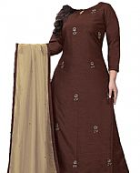 Chocolate Georgette Suit- Indian Semi Party Dress