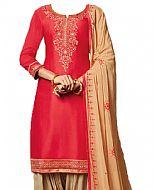 Pink/Beige Georgette Suit