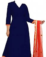 Navy Blue Chiffon Suit- Indian Dress