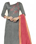 Grey Georgette Suit- Indian Semi Party Dress