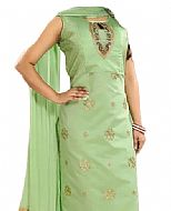 Mint Green Chiffon Suit- Indian Semi Party Dress