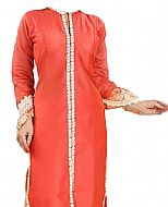 Coral Chiffon Suit- Indian Dress