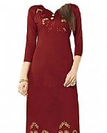 Maroon Georgette Suit- Indian Dress