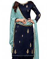 Navy Blue Georgette Suit- Indian Semi Party Dress