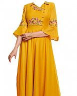 Mustard Georgette Suit- Indian Semi Party Dress