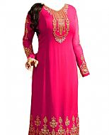 Hot Pink Georgette Suit- Indian Semi Party Dress