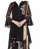 Black Chiffon Suit- Indian Semi Party Dress