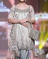Off-white Organza Suit- Pakistani Party Wear Dress