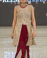 Golden/Maroon Chiffon Suit- Pakistani Party Wear Dress